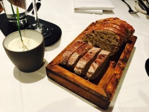 Sehr leckeres Brot mit gesalzener Buttercreme